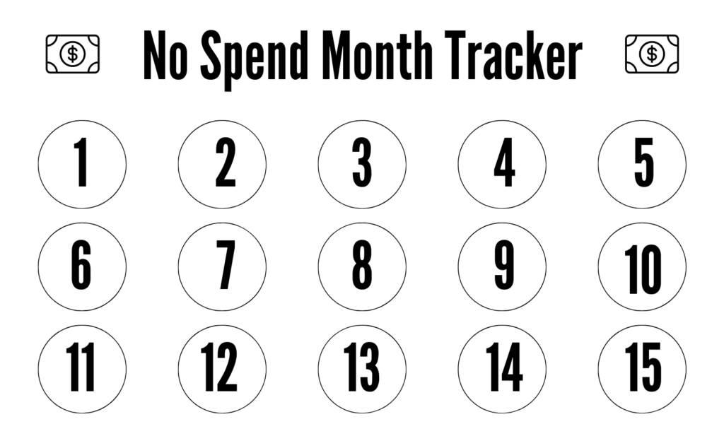 No spend challenge tracker